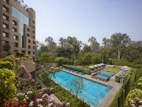 A view of the pool at ITC Maurya New Delhi A Luxury Collection Hotel or nearby