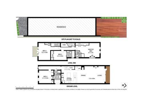 The floor plan of 4 Ensuite Chelsea Villa CBD-Airport