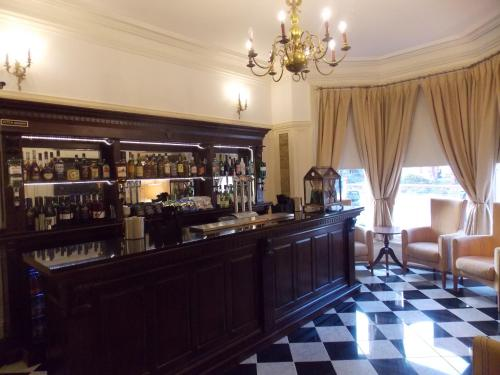 The lounge or bar area at The Mountford Hotel