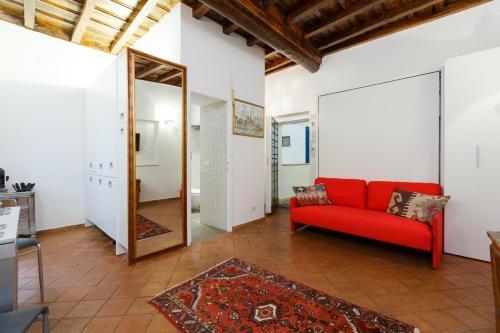 אזור ישיבה ב-Old Rome Apartment