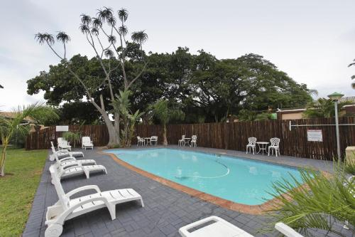 The swimming pool at or close to St Lucia Lodge