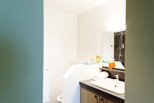 Ein Badezimmer in der Unterkunft Feuerhart