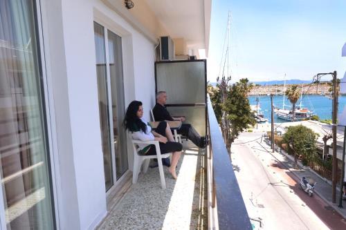 A balcony or terrace at Veroniki Hotel