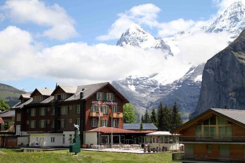 Hotel Jungfrau Mürren during the winter