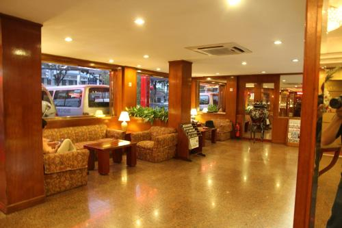 The lobby or reception area at Saigon Star Hotel