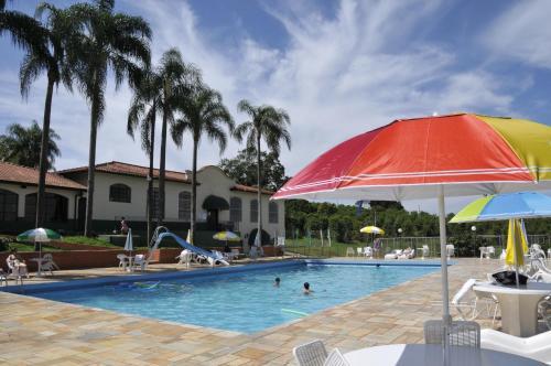 The swimming pool at or near Hotel Fazenda São Matheus
