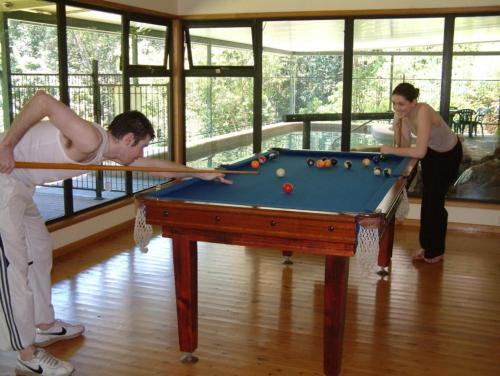 A pool table at Chambers Wildlife Rainforest Lodges