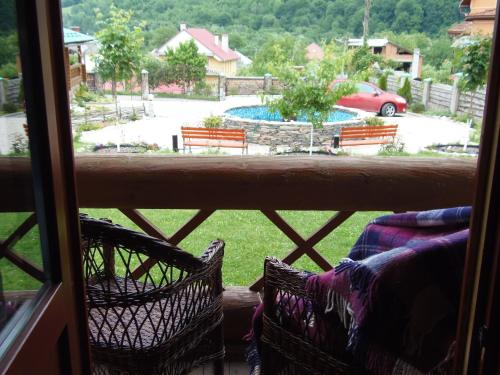 A balcony or terrace at Tourist complex Karina