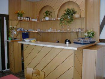 Küche/Küchenzeile in der Unterkunft Hotel Goldener Engel