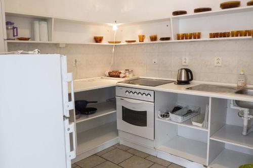Küche/Küchenzeile in der Unterkunft A1FLATS