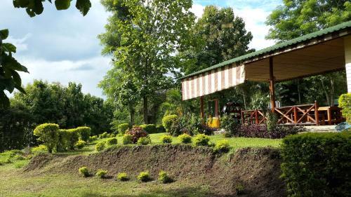 A garden outside Thai Adventure Cottage