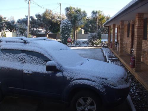 Snowdream Motel during the winter