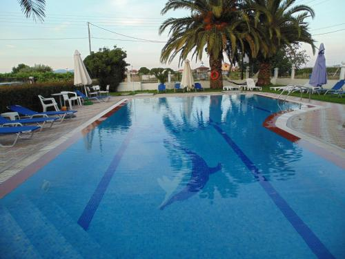 The swimming pool at or near House Michalis