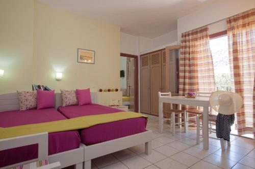 Χώρος καθιστικού στο Latania Apartments