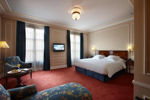 Cama o camas de una habitación en Palacio Guendulain
