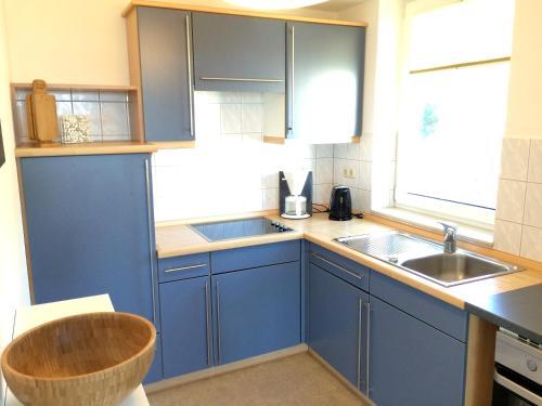 Küche/Küchenzeile in der Unterkunft Ferienappartement Barfuss