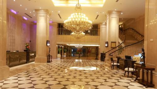 The lobby or reception area at The Ashok, New Delhi