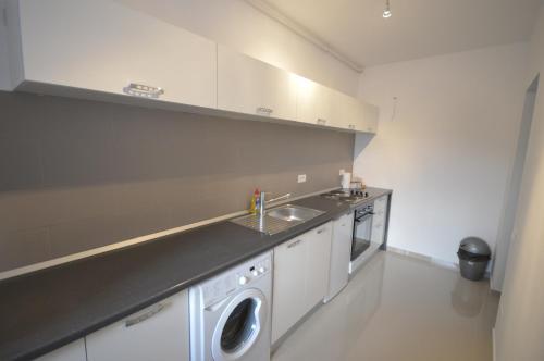 O bucătărie sau chicinetă la Ambiance Apartment