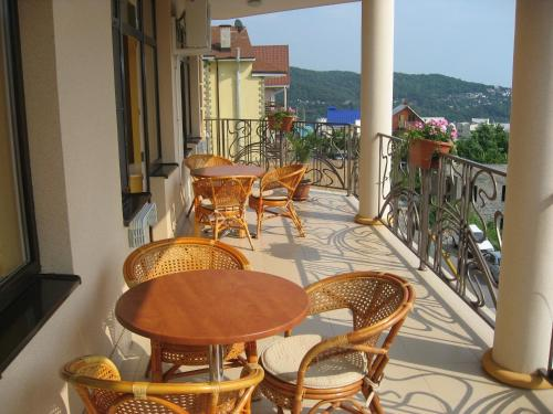 A balcony or terrace at European Guest House