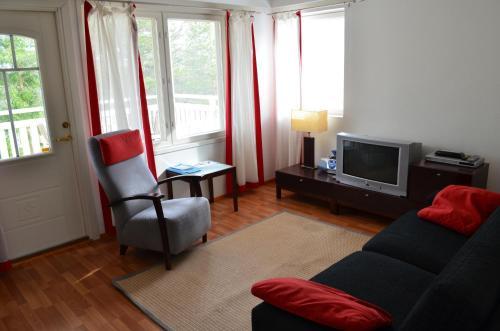 Oleskelutila majoituspaikassa Huoneistohotelli Lumihovi