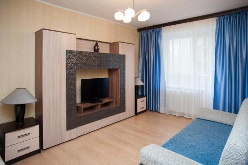 Телевизор и/или развлекательный центр в Апартаменты Moskva4you Новокузнецкая