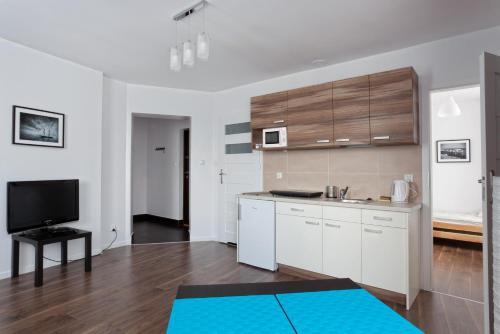 Kuchnia lub aneks kuchenny w obiekcie Apartamenty Angielska Grobla