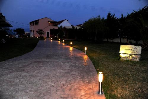 Jardin de l'établissement Biscoutsis Apartments & Studios