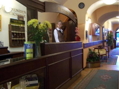 Lobby alebo recepcia v ubytovaní Hotel Barbakan