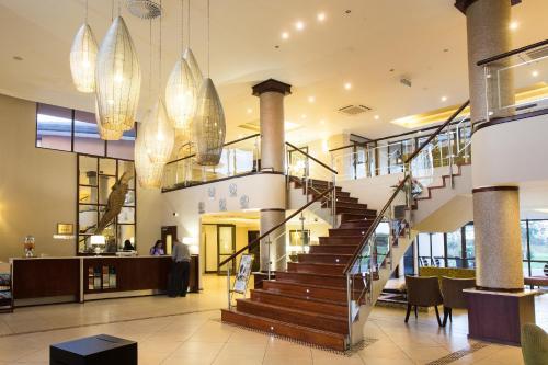 The lobby or reception area at Phakalane Golf Estate Hotel Resort
