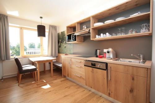 Küche/Küchenzeile in der Unterkunft Aktiv & Sport Apartments Oberjörg