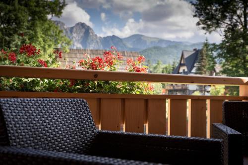 Balkon lub taras w obiekcie Aparthotel Bambi