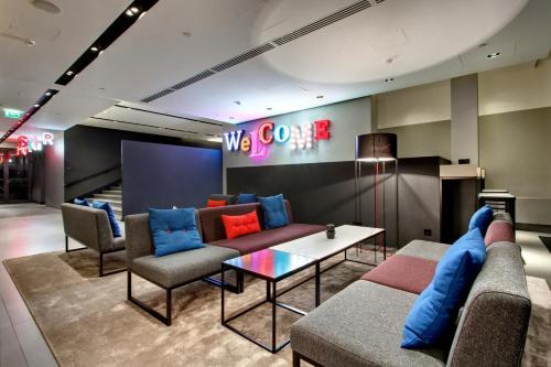 The lounge or bar area at AZIMUT Hotel Vladivostok