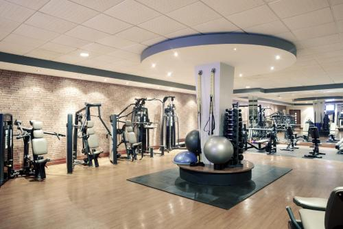 The fitness centre and/or fitness facilities at Mercure Cardiff Holland House Hotel & Spa