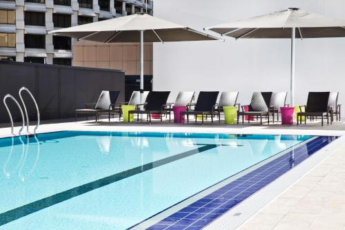 The swimming pool at or near Hilton Brisbane