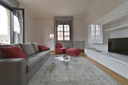 Area soggiorno di Porta Romana Apartment