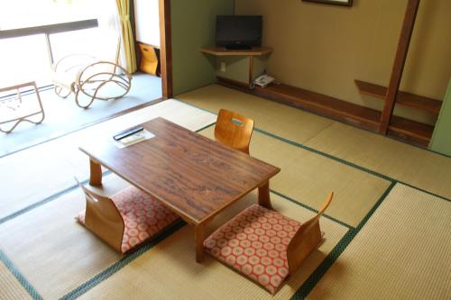 A television and/or entertainment center at Bugakuso