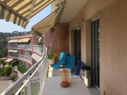 Balcon ou terrasse dans l'établissement Les Argonautes
