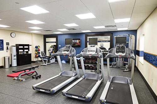 The fitness center and/or fitness facilities at Hampton Inn by Hilton Ottawa Airport