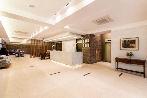 The lobby or reception area at Korea Tourist Hotel