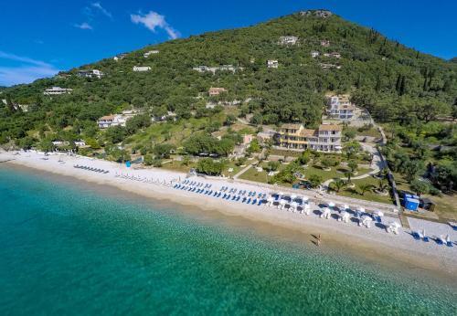 Widok z lotu ptaka na obiekt Krouzeri Beach Apartments
