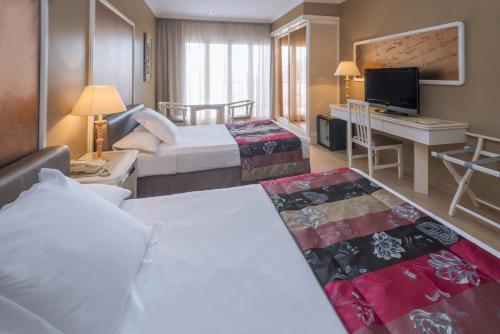 Cama o camas de una habitación en Mas Gallau
