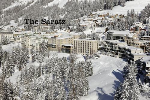 Hotel Saratz Pontresina с высоты птичьего полета