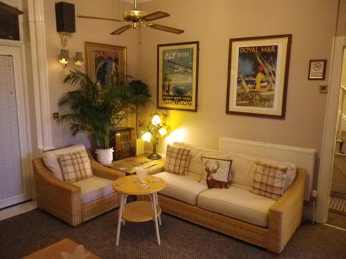 A seating area at Balmoral