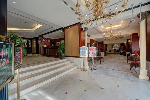 The lobby or reception area at Ascot Hotel
