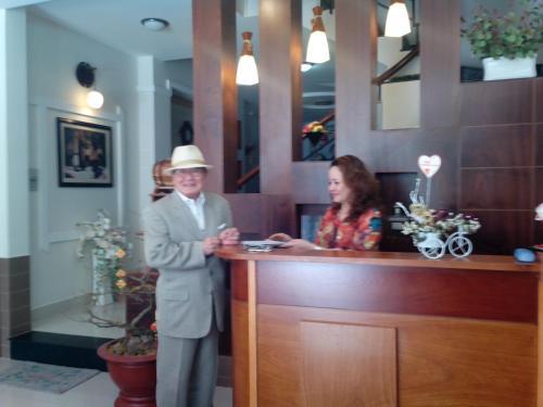 The lobby or reception area at Sakura Hotel