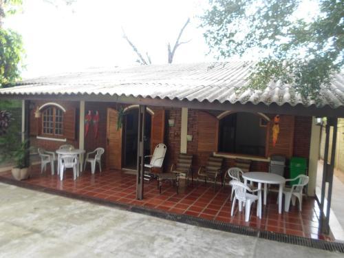 A porch or other outdoor area at Pousada Laura / Ziza
