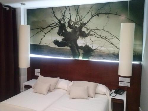 Кровать или кровати в номере Hotel La Casota