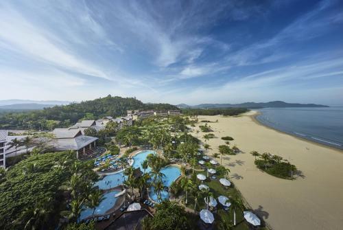 A bird's-eye view of Shangri-La's Rasa Ria Resort & Spa