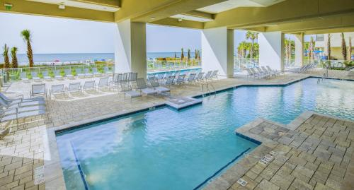 The swimming pool at or close to Ocean 22 by Hilton Grand Vacations
