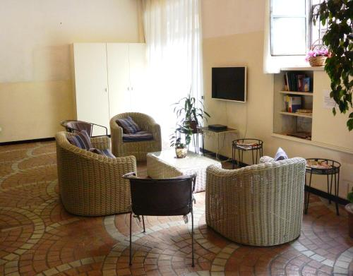 A seating area at Hotel Nettuno